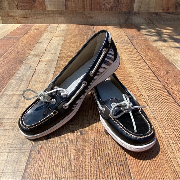 Sperry Zebra Patent Leather Sequin Topsiders